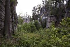 Εθνικό πάρκο των βράχων adrspach-Teplice Πόλη βράχου Στοκ φωτογραφία με δικαίωμα ελεύθερης χρήσης