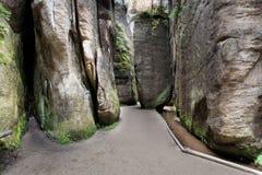 Εθνικό πάρκο των βράχων adrspach-Teplice Πόλη βράχου Στοκ Εικόνα