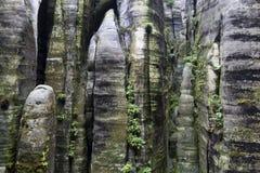 Εθνικό πάρκο των βράχων adrspach-Teplice Πόλη βράχου cesky τσεχική πόλης όψη δημοκρατιών krumlov μεσαιωνική παλαιά Στοκ Εικόνα