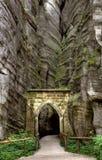 Εθνικό πάρκο των βράχων adrspach-Teplice Πόλη βράχου cesky τσεχική πόλης όψη δημοκρατιών krumlov μεσαιωνική παλαιά Στοκ φωτογραφίες με δικαίωμα ελεύθερης χρήσης