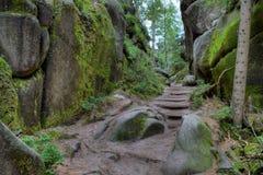 Εθνικό πάρκο των βράχων adrspach-Teplice Πόλη βράχου cesky τσεχική πόλης όψη δημοκρατιών krumlov μεσαιωνική παλαιά Στοκ φωτογραφία με δικαίωμα ελεύθερης χρήσης
