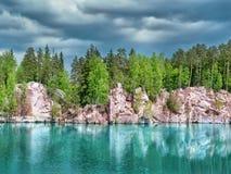 Εθνικό πάρκο των βράχων adrspach-Teplice Στοκ Εικόνες