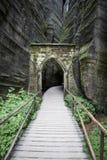 Εθνικό πάρκο των βράχων adrspach-Teplice cesky τσεχική πόλης όψη δημοκρατιών krumlov μεσαιωνική παλαιά Στοκ εικόνα με δικαίωμα ελεύθερης χρήσης