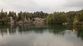 Εθνικό πάρκο των βράχων adrspach-Teplice cesky τσεχική πόλης όψη δημοκρατιών krumlov μεσαιωνική παλαιά Στοκ Φωτογραφίες