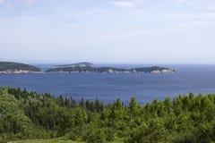 Εθνικό πάρκο Χάιλαντς ακρωτηρίων βρετονικό του Καναδά Στοκ Εικόνες