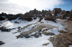 Εθνικό πάρκο Badlands στη νότια Ντακότα, ΗΠΑ. στοκ εικόνες