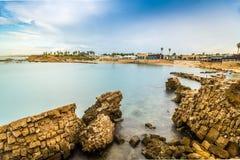 Εθνικό πάρκο Cesarea, Ισραήλ Στοκ εικόνα με δικαίωμα ελεύθερης χρήσης