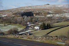 Εθνικό πάρκο Dartmoor το χειμώνα Αγγλία UK στοκ εικόνα με δικαίωμα ελεύθερης χρήσης