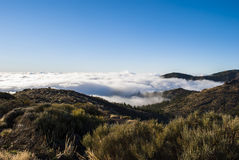 Εθνικό πάρκο EL Teide (επάνω από τα σύννεφα) Στοκ εικόνα με δικαίωμα ελεύθερης χρήσης
