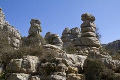 Εθνικό πάρκο EL Torcal de Antequera της Ισπανίας Στοκ Φωτογραφία