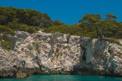 Εθνικό πάρκο Gargano: Νησί Tremiti, Apulia Στοκ Φωτογραφίες