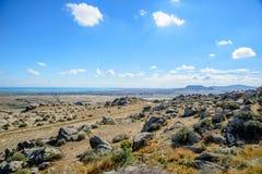 Εθνικό πάρκο Gobustan στο Αζερμπαϊτζάν Στοκ φωτογραφίες με δικαίωμα ελεύθερης χρήσης