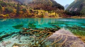 Εθνικό πάρκο Jiuzhaigou, Sichuan Κίνα Στοκ εικόνα με δικαίωμα ελεύθερης χρήσης
