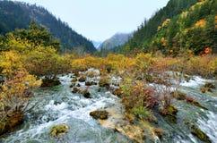 Εθνικό πάρκο Jiuzhaigou, Sichuan Κίνα Στοκ Εικόνες