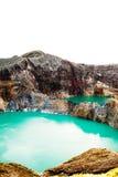 Εθνικό πάρκο Kelimutu στην Ινδονησία Χρωματισμένες λίμνες στον κρατήρα ηφαιστείων Kelimutu, Flores Στοκ Εικόνες