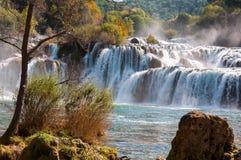 Εθνικό πάρκο Krka, καταρράκτες, Κροατία Στοκ Εικόνα