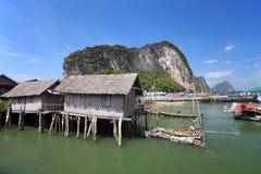 Εθνικό πάρκο nga AO Phang. Koh Panyee. Στοκ Εικόνα
