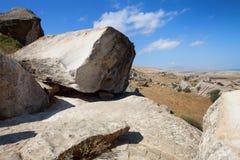Εθνικό πάρκο Qobustan στο Αζερμπαϊτζάν Στοκ εικόνα με δικαίωμα ελεύθερης χρήσης