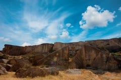Εθνικό πάρκο Qobustan στο Αζερμπαϊτζάν Στοκ Φωτογραφία