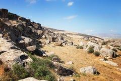 Εθνικό πάρκο Qobustan στο Αζερμπαϊτζάν Στοκ Εικόνες