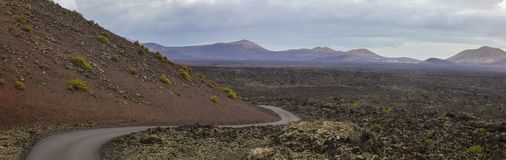 Εθνικό πάρκο Timanfaya σε Lanzarote Στοκ φωτογραφίες με δικαίωμα ελεύθερης χρήσης
