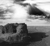 εθνικό πάρκο Utah αψίδων Πανοραμική εναέρια άποψη στο ηλιοβασίλεμα Στοκ φωτογραφία με δικαίωμα ελεύθερης χρήσης