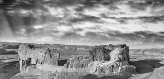 εθνικό πάρκο Utah αψίδων Πανοραμική εναέρια άποψη στο ηλιοβασίλεμα Στοκ εικόνες με δικαίωμα ελεύθερης χρήσης