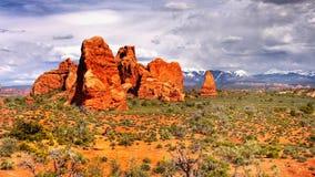 εθνικό πάρκο Utah αψίδων Στοκ φωτογραφίες με δικαίωμα ελεύθερης χρήσης