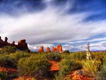 εθνικό πάρκο Utah αψίδων Στοκ Εικόνα