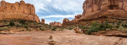 εθνικό πάρκο Utah πανοράματος λεωφόρων αψίδων Στοκ Φωτογραφίες