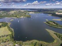 Εθνικό πάρκο Wigry λιμνών Suwalszczyzna, Πολωνία Μπλε νερό και Στοκ εικόνα με δικαίωμα ελεύθερης χρήσης