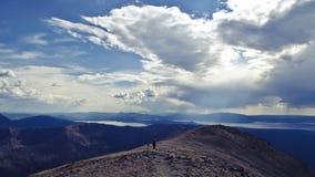 Εθνικό πάρκο Yellowstone: Μέγιστο ίχνος πεζοπορίας χιονοστιβάδων Στοκ Εικόνα