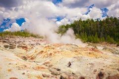 Εθνικό πάρκο Yellowstone Wyoming ΗΠΑ geysers Στοκ Εικόνες