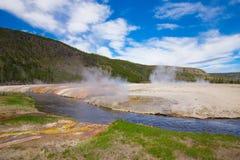 Εθνικό πάρκο Yellowstone Wyoming ΗΠΑ geysers Στοκ εικόνες με δικαίωμα ελεύθερης χρήσης