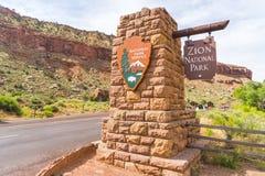 Εθνικό πάρκο Zion, Utah, ΗΠΑ, 06-01-17: Εθνικό πάρκο Σηάν α Zion στοκ εικόνα με δικαίωμα ελεύθερης χρήσης