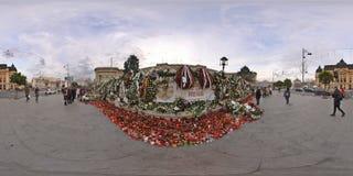 Εθνικό πένθος μετά από την αποβίωση του Michael Ι στη Royal Palace στο Βουκουρέστι, Ρουμανία στοκ φωτογραφία