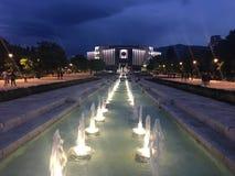 Εθνικό παλάτι της φωτογραφίας BG Sofia πολιτισμού τη νύχτα Στοκ Φωτογραφίες