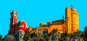 Εθνικό παλάτι Pena, Sintra, Λισσαβώνα, Πορτογαλία Στοκ Εικόνες