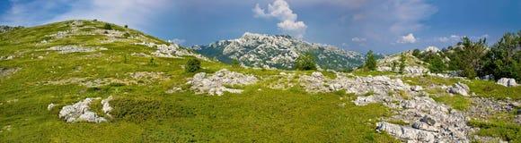 Εθνικό πανόραμα πάρκων βουνών Velebit Στοκ Εικόνες