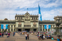Εθνικό παλάτι της Γουατεμάλα Plaza de Λα Constitucion Constitution στην τετραγωνική Γουατεμάλα πόλη, Γουατεμάλα Στοκ εικόνα με δικαίωμα ελεύθερης χρήσης
