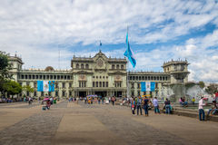 Εθνικό παλάτι της Γουατεμάλα Plaza de Λα Constitucion Constitution στην τετραγωνική Γουατεμάλα πόλη, Γουατεμάλα Στοκ Εικόνα