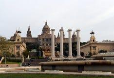 Εθνικό παλάτι Montjuic στη Βαρκελώνη στοκ εικόνα