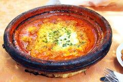 Εθνικό πιάτο του Μαρόκου - tajine Στοκ φωτογραφία με δικαίωμα ελεύθερης χρήσης