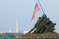 Εθνικό πολεμικό μνημείο Iwo Jima Στοκ φωτογραφία με δικαίωμα ελεύθερης χρήσης
