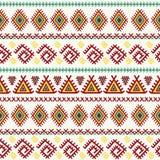 εθνικό πρότυπο άνευ ραφής Των Αζτέκων διανυσματική σύσταση Στοκ Φωτογραφίες