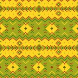 εθνικό πρότυπο τέχνη φυλετική γεωμετρικό πρότυπο άνευ ραφής στοκ εικόνα