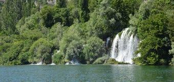 εθνικό ράπισμα roski ποταμών πάρκων krka της Κροατίας Δαλματία Στοκ Φωτογραφία