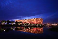 εθνικό στάδιο του Πεκίνο& Στοκ Φωτογραφίες