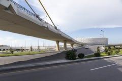 Εθνικό στάδιο του Μπακού στο Μπακού, Αζερμπαϊτζάν Το Μπακού θα φιλοξενήσει πρώτα Στοκ Φωτογραφία