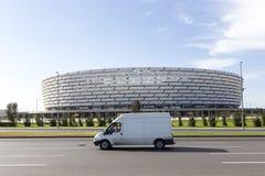 Εθνικό στάδιο του Μπακού στο Μπακού, Αζερμπαϊτζάν Το Μπακού θα φιλοξενήσει πρώτα Στοκ Φωτογραφίες
